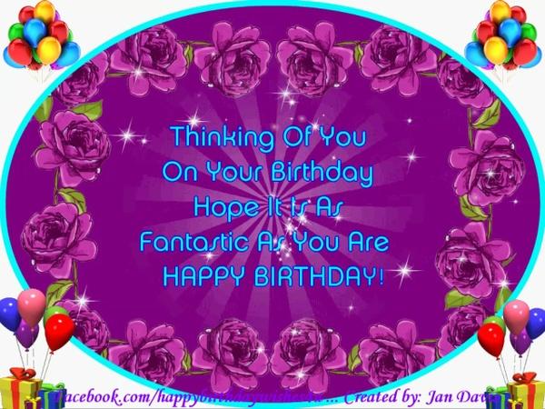 Thinking of You Happy Birthday Wishes