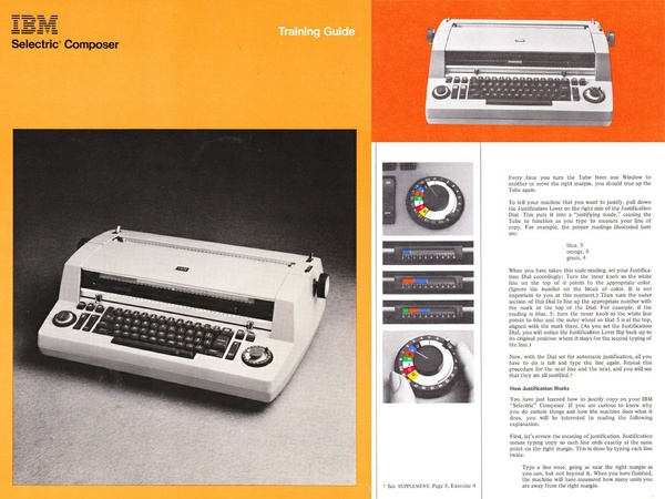 IBM Selectric Composer Typesetter Training Manual