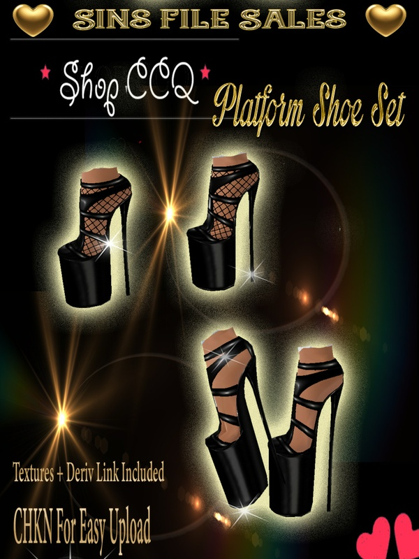 Platform Shoe Set * CHKN for easy upload