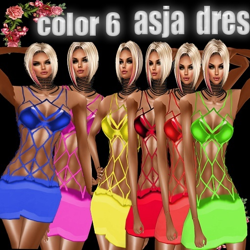 ASJA  DRES 6 COLOR USD 2.10