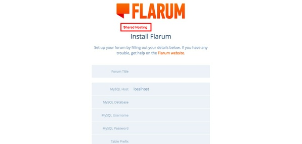 Flarum on shared hosting