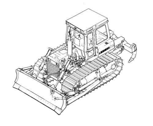 LIEBHERR PR754 Litronic CRAWLER DOZER OPERATION & MAINTENANCE MANUAL (from S/N 9707)