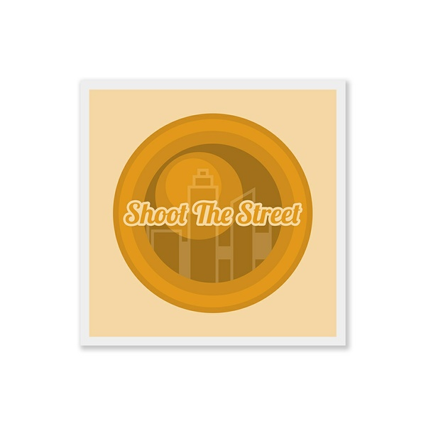 Shoot The Street - Square Art Print - Digital Download