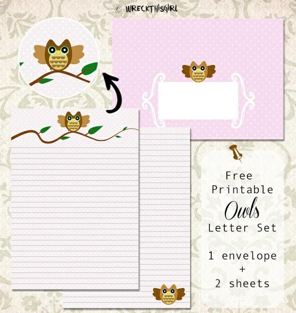 Owl Letter Set