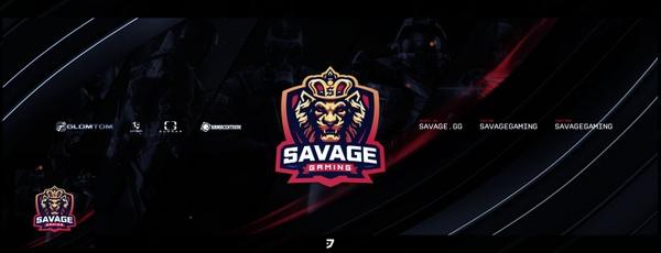 Savage Gaming Header PSD