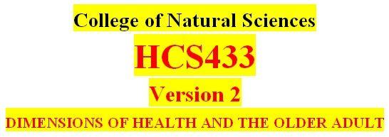 HCS433 All Weeks DQs