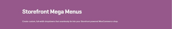 WooCommerce Storefront Mega Menus 1.4.2 Extension