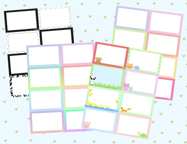 Note Cards Pack (4 Themes)