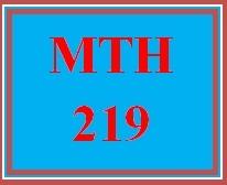 MTH 219 Week 5 MyMathLab Study Plan for Week 5 Final Exam