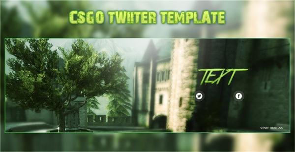 Premade CSGO Twitter Banner Template