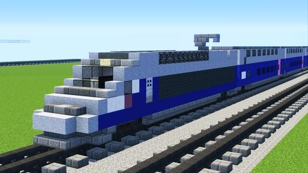 Commission a Minecraft Train Model