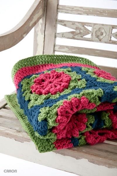 Crochet Petal Blanket