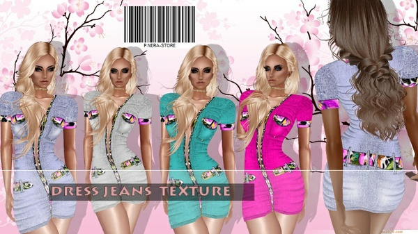 MINI DRESS JEANS HD  TEXTURE
