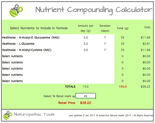 Nutrient compounding calculator
