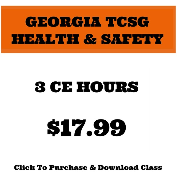 GEORGIA COSMETOLOGY HEALTH AND SAFETY
