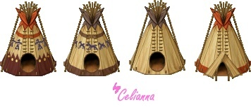 "Celianna's Parallax Tiles ""Tipis"""