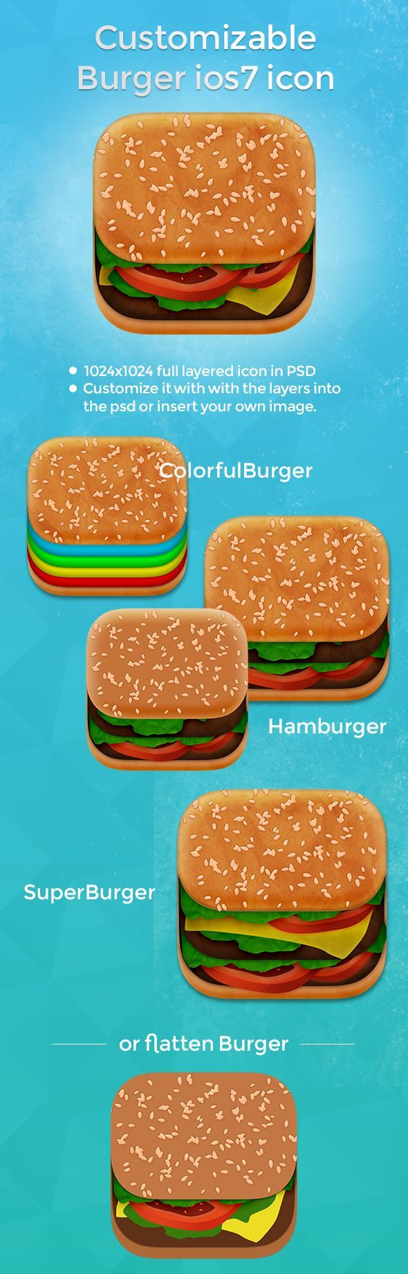 Burger app icon - big mac