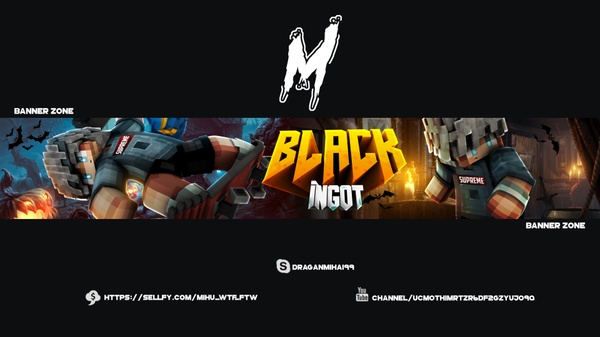Youtube Minecraft Banner + Avatar | Mihu WTF_FTW