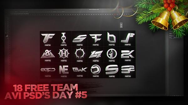 18 Free Team AVI PSD's! (25 Days of Christmas)