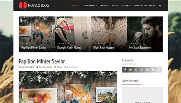 Novelo Blog Premium Version