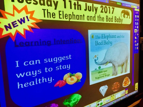 FLIP CHART SLIDES FOR THE ELEPHANT AND THE BAD BABY