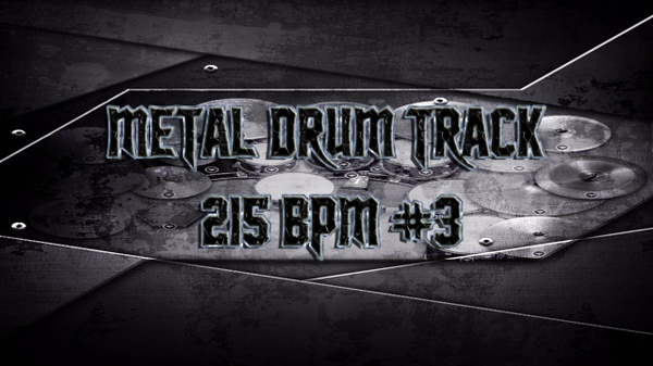 Metal Drum Track 215 BPM #3