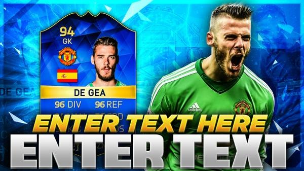FIFA 16 TOTS DE GEA THUMBNAIL TEMPLATE