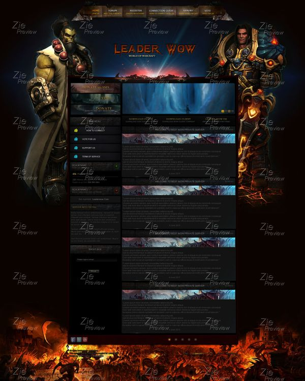 Fusion Cms PSD made for WOD Patch