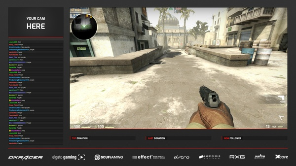 #8 Stream Overlay inkl. PSD (2 Styles)