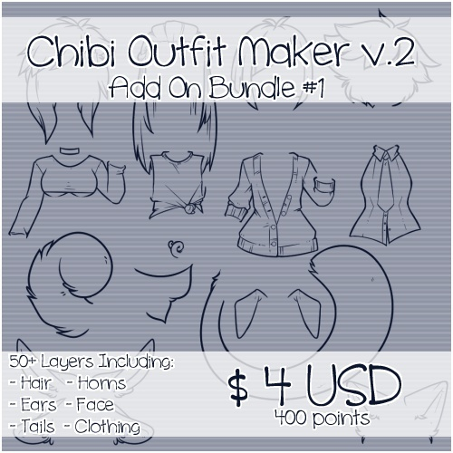 Chibi Outfit Maker v.2 Add On Bundle #1