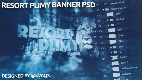 Resort Plimy Banner PSD