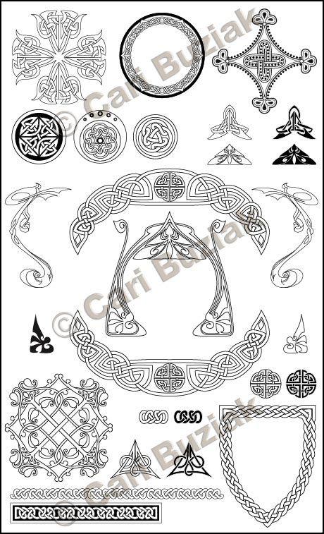 "Aon Wedding Stationery - ""Crests and Emblems"" set, Black and White, 150dpi"