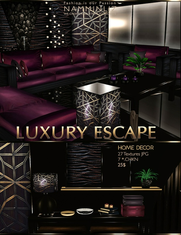 Luxury Escape Home decor imvu •27 Textures JPG •7.CHKN