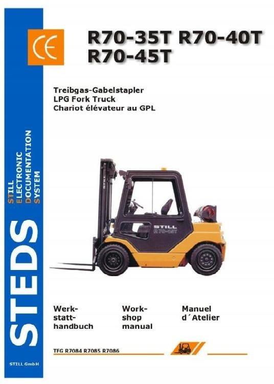 Still LPG Fork Truck R70-35T, R70-40T, R70-45T Series: R7084, R7085, R7086 Workshop Manual