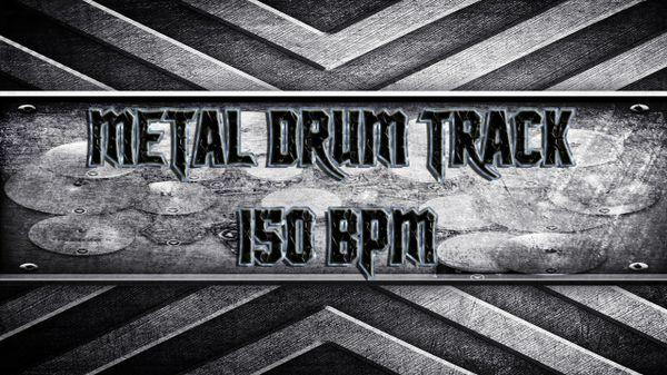 Metal Drum Track 150 BPM
