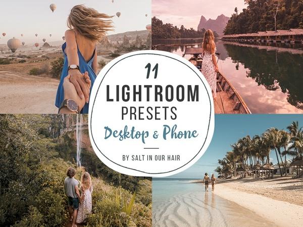 11 Lightroom Presets - Phone & Desktop - Salt in our Hair - Instagram