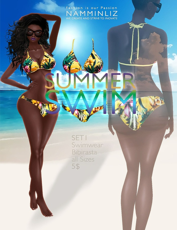 Summer swim SET1 imvu Bibirasta all sizes swimwear texture file sale