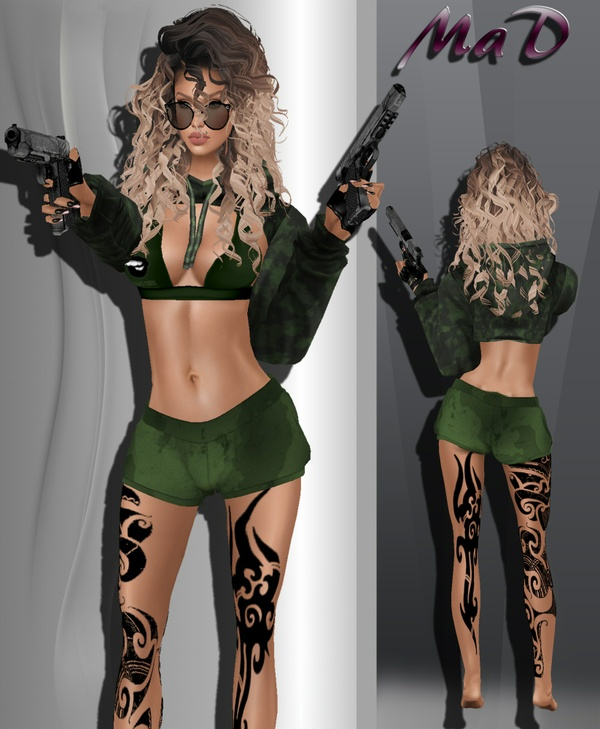 MaD Army Girl  ONLY CATTY (one pants gift )