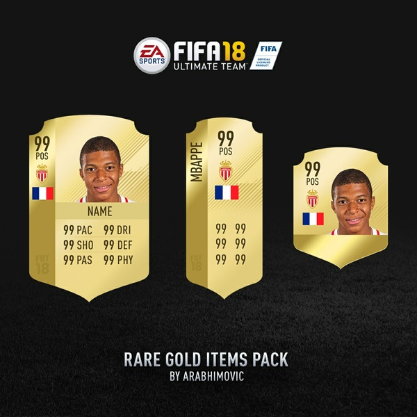 FIFA 18 HD RARE GOLD CARDS PACKAGE