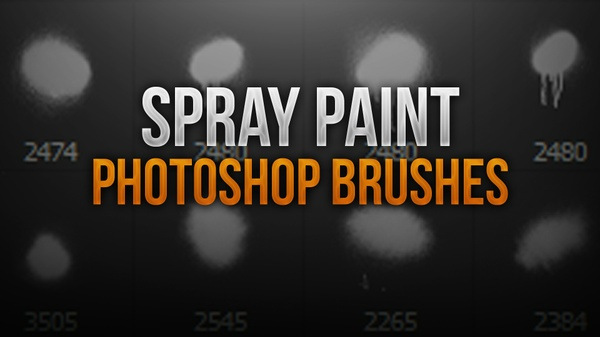 Spray Paint Photoshop Brush Pack
