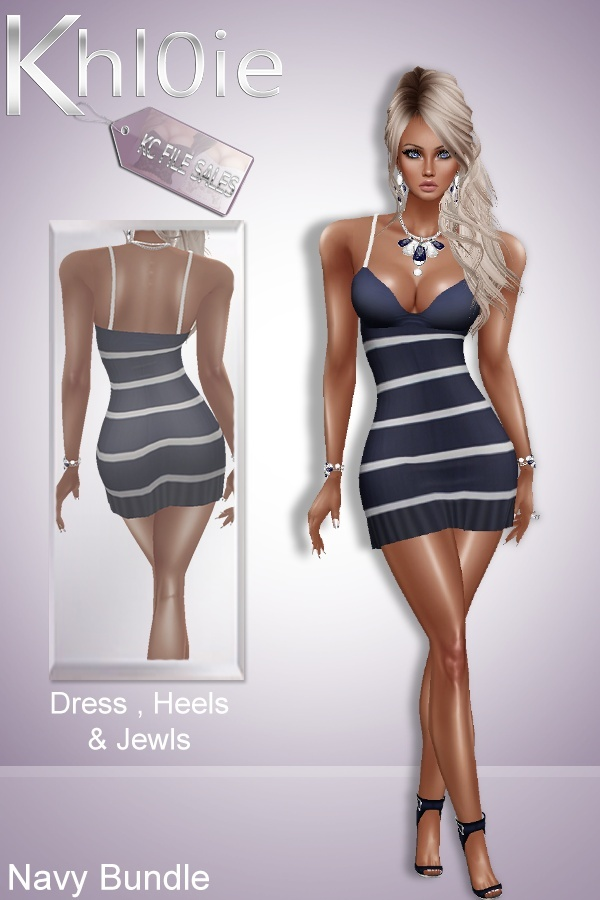 Navy Bundle ( dress, heels and jewls )