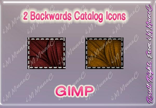 2 Backwards Catalog Icons GIMP (Halloween)
