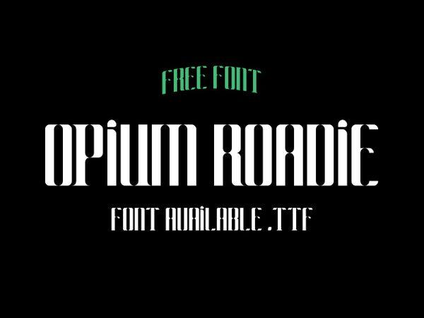 Opium Roadie - Free font.