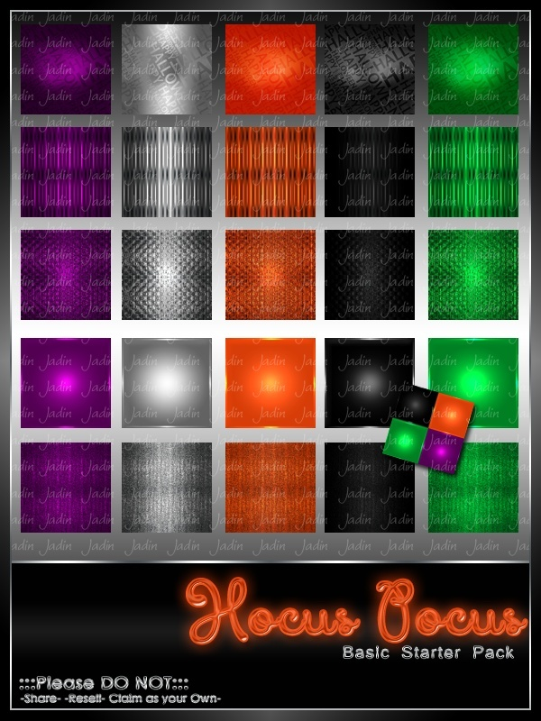 Hocus Pocus BASIC Texture Pack-- $2.00