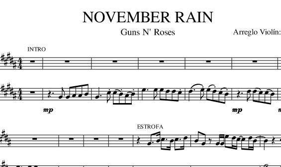 NOVEMBER RAIN (Guns N' Roses) (Con SOLOS)