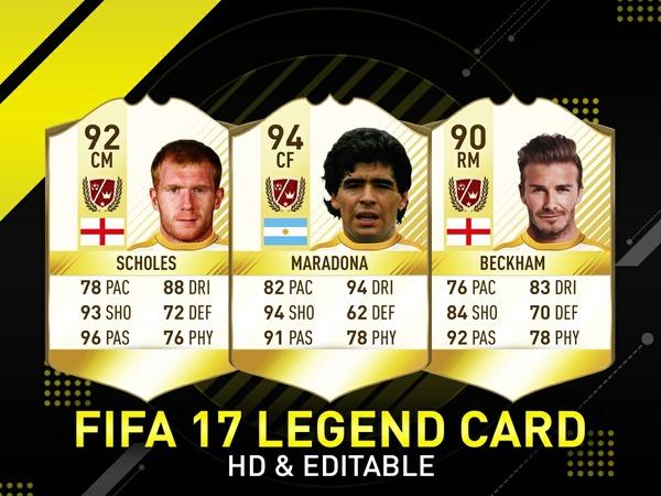 Fifa 17 Legend Card Template
