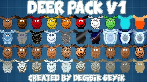 Deer Icons Pack V1 - 40 Icons