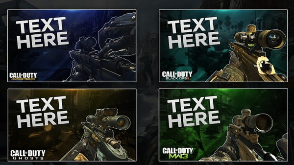 Call of Duty Thumbnail Template Pack
