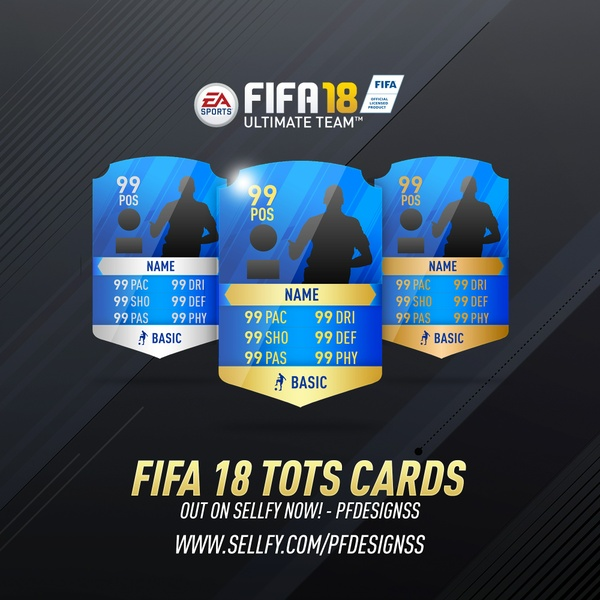 FIFA 18 TOTS CARDS TEMPLATE (HD)