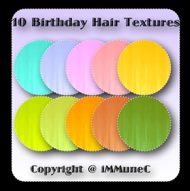 10 Birthday Hair Textures With Resell Rights